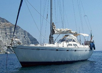 Sailing in Atlantic 55
